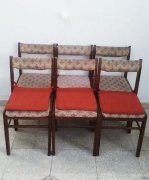 juego de 6 sillas de madera masisa