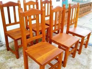 sillas de algarrobo nuevas