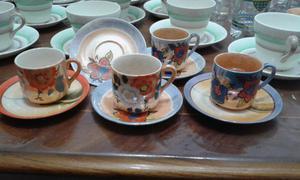 4 pocillos de cafe de porcelana oriental
