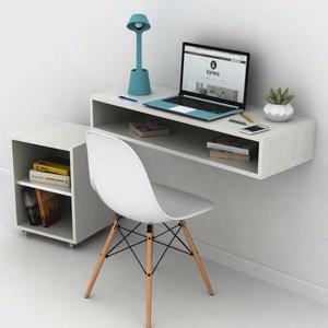 Moderno estante flotante en melamina con posot class - Escritorio para habitacion ...