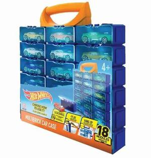 Hot Wheels Valija Guarda Autos Desarmable 18uni Hwcc8b