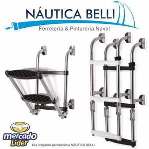 Escalera Nautica Plegable Acero Inox 3 Esc - Barcos Lanchas