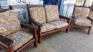 Líquido sillones de algarrobo con mesa