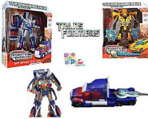 Transformers Robot X2 Camión Optimus Prime + Auto Bumblebee