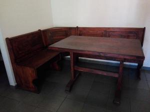 Excelente banco esquinero de cedro juego de posot class for Esquinero mesa banco