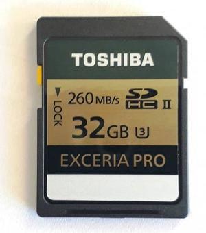 Memoria Sd 32 Gb Sdhc mb/s Exceria Pro 4k U3 Clas