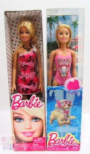 Muñeca Barbie 30cm Articulada Vestido Playa Original Mattel
