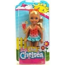 Muñeca De Barbie Club Chelsea Modelo Playa Y Anteojos De