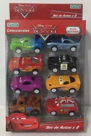 Cars Autos Set De 8 Autitos Pull Back Licencia A Friccion