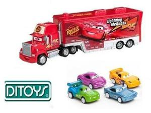 Cars Combo Camion Mack + 4 Autitos Rayo Macqueen Orig Ditoys