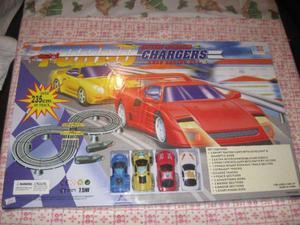 Pista De Autos De Carrera Turbo Chargers Nueva