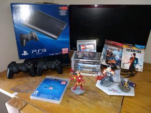 Vendo Playstation 3 slim 250 Gb + 2 jostick + 10 juegos +
