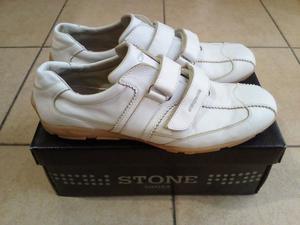 Zapatos de Cuero | Marca Stone | Color Blanco | Talle 45