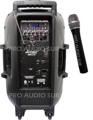 Bafle Apogee Smx215 Bateria Recargable Microfono Inalambrico