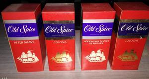 Lote de after shave y colonia Old Spice