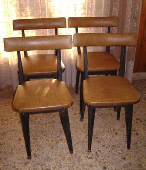 Sillas de hierro cervezeras org tapizadas posot class - Sillas tapizadas vintage ...