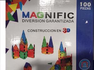 Bloques Imanes Magneticos Magnific Educativos 100 Piezas