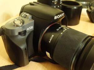 Camara Sony Reflex Alpha 330 Con Lentes Y Accesorios