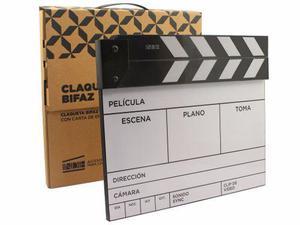 Claqueta De Cine Bifaz Con Carta De Enfoque Indie