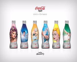 Colección Andy Cherniavsky. Coca Cola Light. 6 Botellas