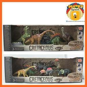 Cretaceous Set De Dinosaurios, 6 Psc