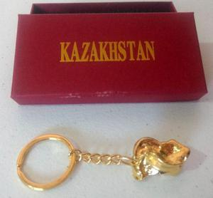 Llavero taba de bronce macizo de Kazakhstan Kazajstán
