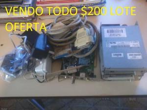 Lote completo de disqueteras, placas sintonizadora, vídeo,