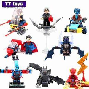 Minifiguras Super Heroes Con Vehículo Y Objetos Nuevos!!