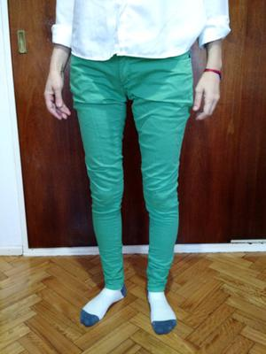 Pantalon de jean verde