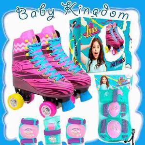 Patines Soy Luna Original Nuevo Con Set Kit De Proteccion