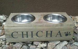 Plato Comedero Bebedero Para Mascotas Perros Gatos