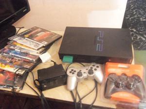 Playstation 2 Fat, con 1 joystick usado 1 joystick nuevo,