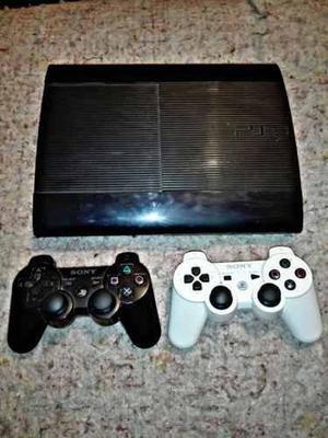 Playstation 3 Slim Con Volante Juegos Y Dos Joystick