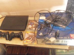 Playstation 3, con 2 joysticks, cables, mas juego Infinity,