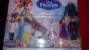 Set Frozen 6 Muñecos 13 Cm De Alto 2 Modelos Adorno Tortas