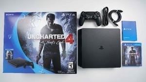 ✔Sony PS4 SLIM mas Juego Uncharted El mejor Regalo!