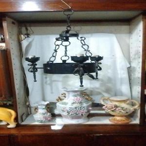 Antigua Araña Colonial De Fierro