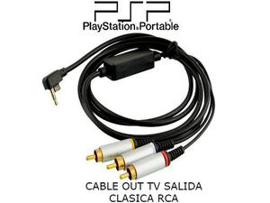 Cable Out Tv Psp Slim Salida Clasica Rca Audio Video
