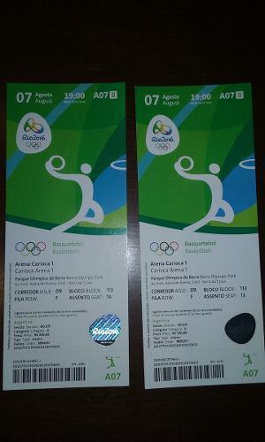 Entradas / Tickets Jj.oo. Río 2016 -- Juegos Olímpicos