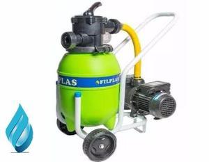 Filtro Portatil  Lts + Bomba Vulcano +kit Limpiafondo