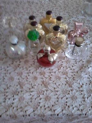 Frascos de perfume vacios