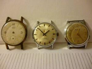 Lote De 3 Relojes Cuerda Made In Germany Umf Ruhla Kienzle
