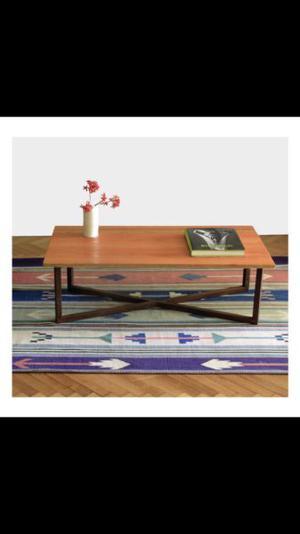 Mesa ratona de madera y hierro