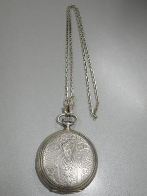 Reloj Antiguo De Bolsillo Longines A Restaurar Todo En Plata