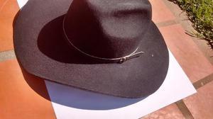 Sombrero De Cowboy Negro Con Barbijo, Nuevo!!!