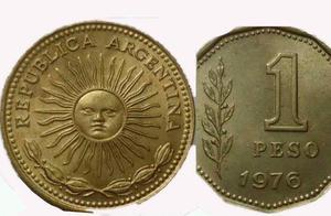 27 monedas de 1 pesos añio1976 -muy buen estado!en lote o
