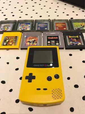 Consola Game Boy Color Y Lote De 9 Juegos