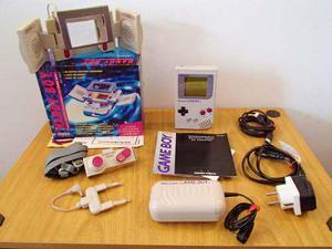 Game Boy Classic + Handy Boy En Caja Con Manuales (leer)
