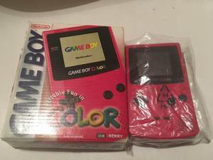 Game Boy Color Con Caja Y Manuales Color Rosa