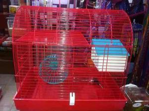 Hamstera Jaula Hamster Baul 2 Pisos Completa Petshopbeto